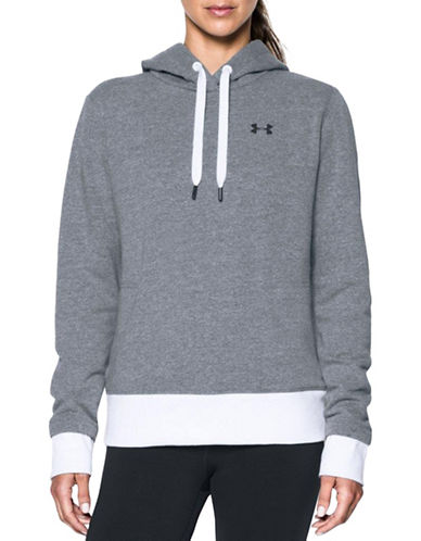 Under Armour Threadborne Fleece Hoodie-GREY-Medium