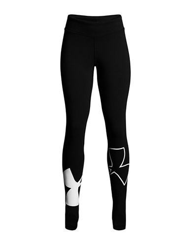 Under Armour Finale Logo Leggings-BLACK-10-12