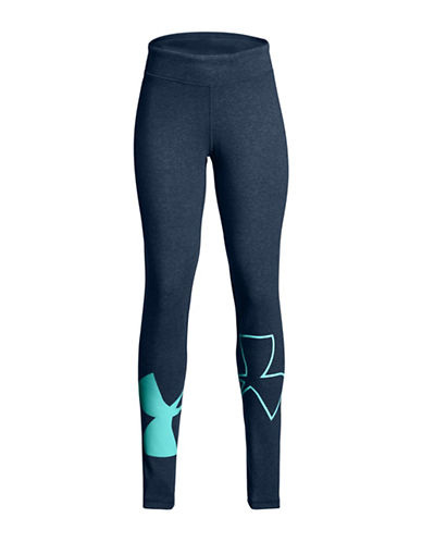 Under Armour Favourite Logo Leggings-BLUE-6