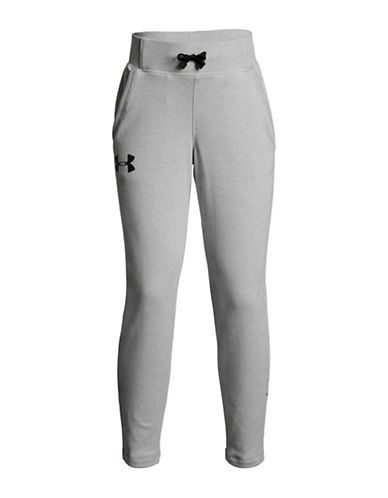 Under Armour Drawstring Skinny Sweatpants-GREY-7-8