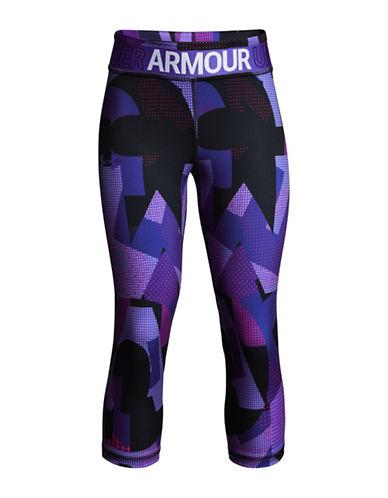 Under Armour Heatgear Armour Printed Capri Pants-PURPLE-6-7 89985355_PURPLE_6-7