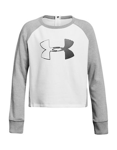 Under Armour Threadborne Terry Sweatshirt-GREY-7-8