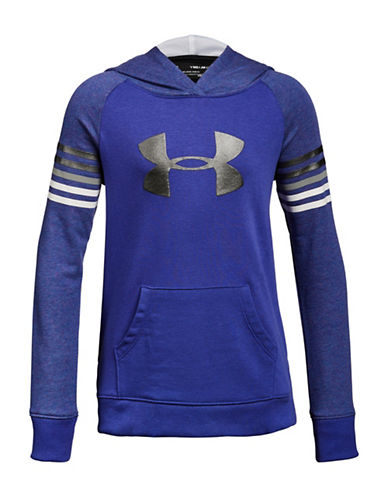Under Armour Favourite Terry Hoodie-PURPLE-14-16