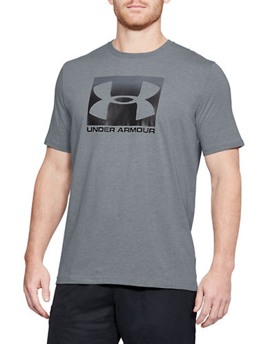 Under Armour Boxed Sportstyle T-Shirt-GREY-X-Large