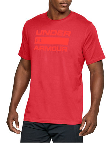 Under Armour Team Issue Wordmark T-Shirt-RED-Small