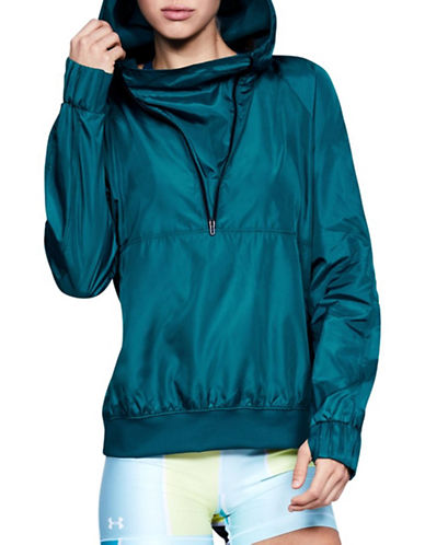 Under Armour Storm Woven Anorak-TEAL-X-Large