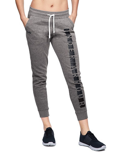 Under Armour Favourite Graphic Fleece Sweatpants-GREY-Large 89844828_GREY_Large