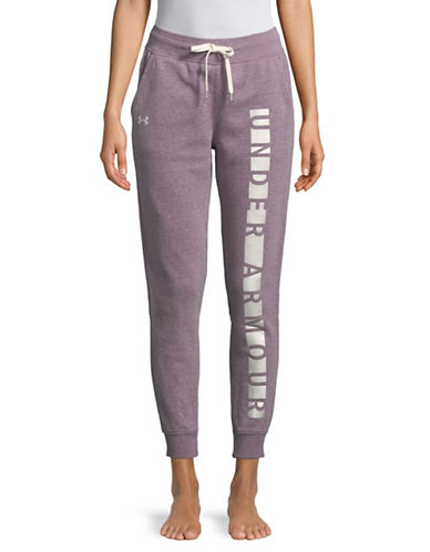 Under Armour Favourite Graphic Fleece Pants-PURPLE-Small 89844830_PURPLE_Small