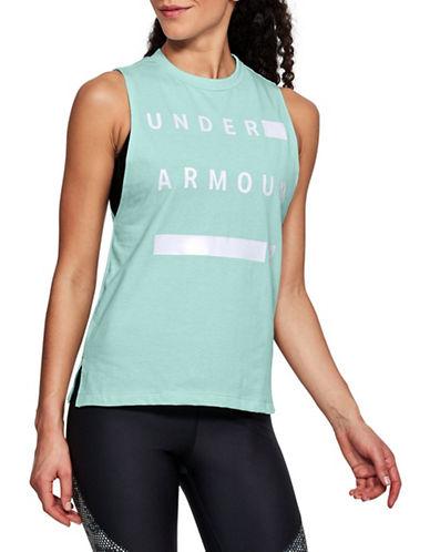 Under Armour Linear Wordmark Muscle Tee-TOURMALINE-X-Small 90020911_TOURMALINE_X-Small