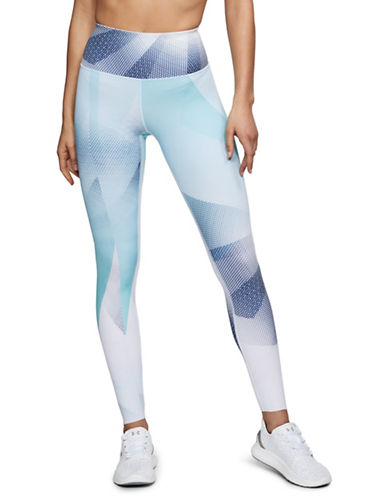 Under Armour Breathelux Printed Leggings-WHITE/BLUE-X-Large 89983073_WHITE/BLUE_X-Large