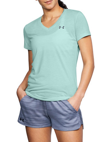 Under Armour Threadborne Twist V-Neck Training Tee-GREEN-Medium 89983028_GREEN_Medium