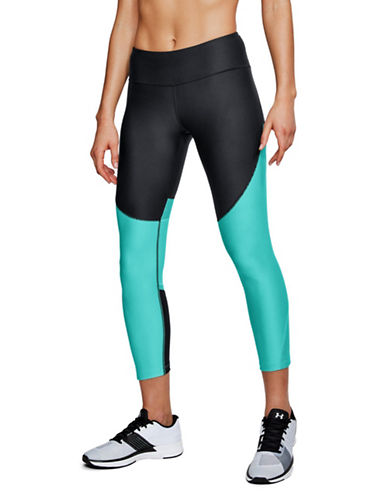 Under Armour Vanish Disrupt Mesh Crop Leggings-BLACK-Large