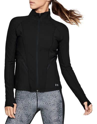 Under Armour Vanish Disrupt Mesh Full-Zip Jacket-BLACK-Medium