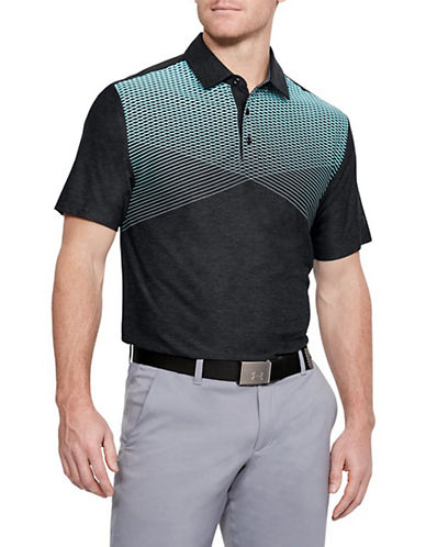 Under Armour Playoff Colourblock Polo-BLACK-X-Large 90033913_BLACK_X-Large
