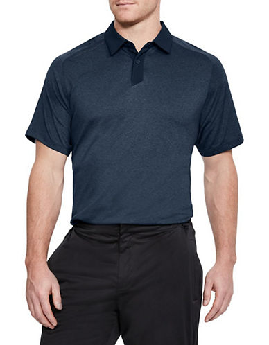 Under Armour Threadborne Short-Sleeve Polo-NAVY BLUE-X-Large 90033948_NAVY BLUE_X-Large