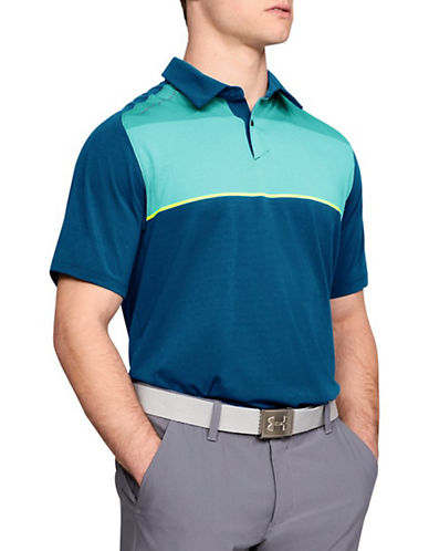 Under Armour Threadborne Infinite Polo-BLUE-X-Large 90033974_BLUE_X-Large
