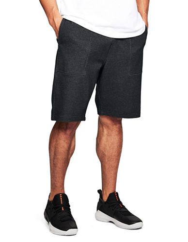 Under Armour Pursuit Fleece Shorts-BLACK-Small 89948171_BLACK_Small