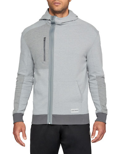 Under Armour Pursuit Full-Zip Hoodie-GREY-Large 89948203_GREY_Large