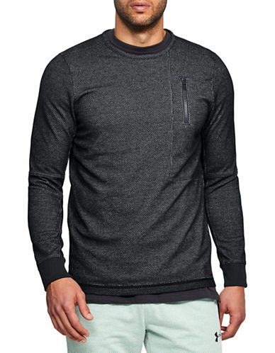 Under Armour Pursuit Block Fleece Sweatshirt-BLACK-X-Large 89948214_BLACK_X-Large