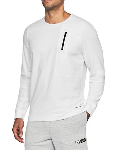 Under Armour Pursuit Block Fleece Sweatshirt-WHITE-Small 89948216_WHITE_Small