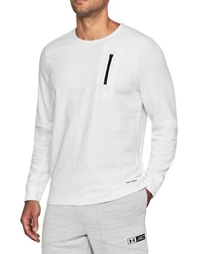 Under Armour Pursuit Block Fleece Sweatshirt-WHITE-X-Large 89948219_WHITE_X-Large
