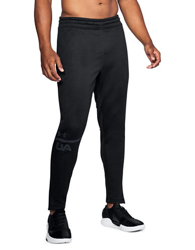 Under Armour Tech Terry Tapered Pants-BLACK-Large
