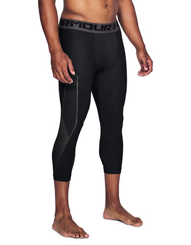 Under Armour HeatGear Graphic Cropped Leggings-BLACK-Medium 89819741_BLACK_Medium