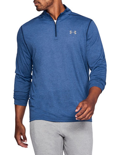 Under Armour Threadborne Siro Half Zip Sweater-BLUE-Large