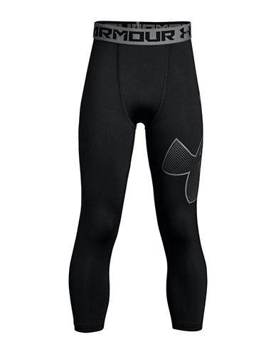 Under Armour BB Three-Quarter Logo Leggings-BLACK-Small