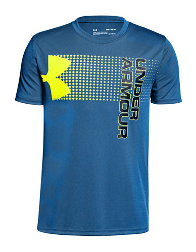 Under Armour Crossfade Graphic Tee-BLUE-7-8
