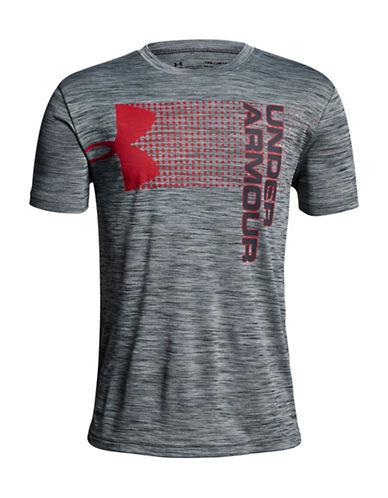 Under Armour Crossfade Graphic Tee-GREY-14-16
