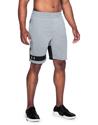 Under Armour Tech French Terry Shorts-STEEL GREY-Large 89819752_STEEL GREY_Large