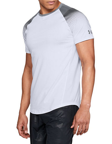 Under Armour Dash-Print Raglan-Sleeve T-Shirt-WHITE/GREY-Medium 90090410_WHITE/GREY_Medium