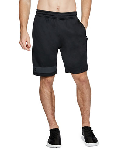Under Armour Tech French Terry Shorts-BLACK-Large 89819747_BLACK_Large