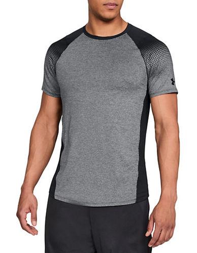 Under Armour Dash-Print Raglan-Sleeve T-Shirt-GREY/BLACK-Small 90090404_GREY/BLACK_Small