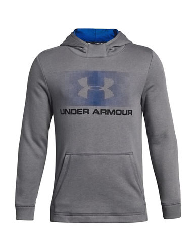 Under Armour Graphic Long-Sleeve Hoodie-GREY-10-12