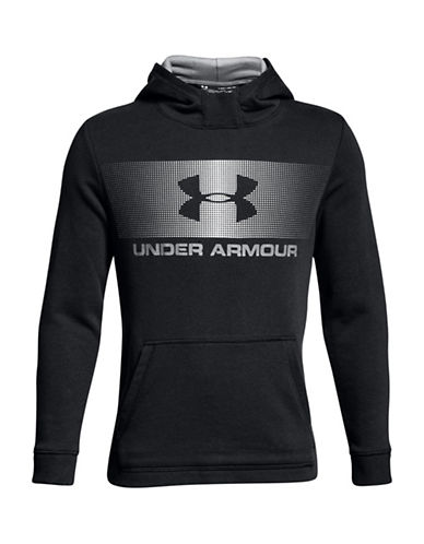 Under Armour Graphic Long-Sleeve Hoodie-BLACK-7-8