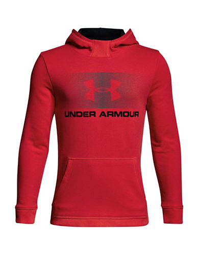 Under Armour Graphic Long-Sleeve Hoodie-RED-18-20