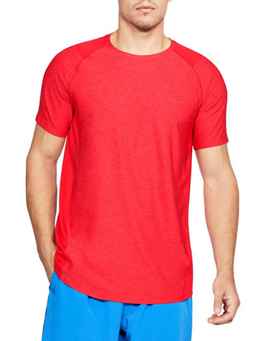 Under Armour Raid Short-Sleeve T-Shirt-RED-Small