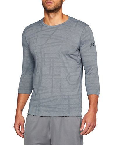 Under Armour Threadborne Quarter-Sleeve T-shirt-STEEL-Small 90090454_STEEL_Small
