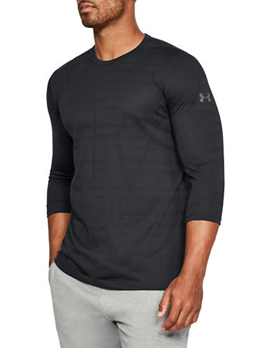 Under Armour Threadborne Quarter-Sleeve Utility T-Shirt-BLACK-Small 89948281_BLACK_Small