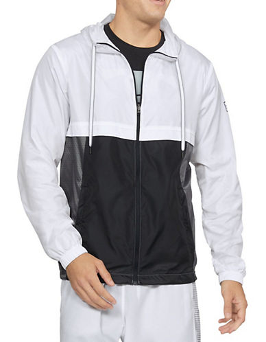 Under Armour Sportstyle Hooded Windbreaker Jacket-WHITE-X-Large 90034045_WHITE_X-Large