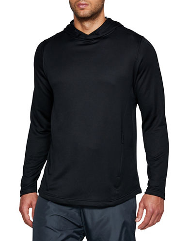 Under Armour Tech Terry Popover Hoodie-BLACK-X-Large