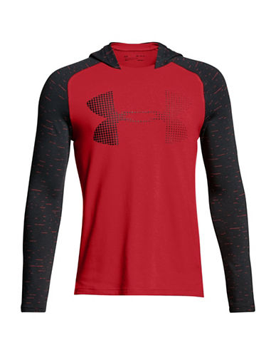 Under Armour Raglan Hooded Sweatshirt-RED-Large 89939242_RED_Large