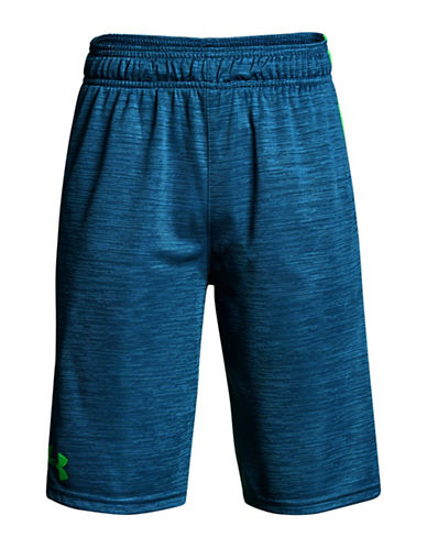 Under Armour BB Colourblocked Stunt Shorts-BLUE-Large