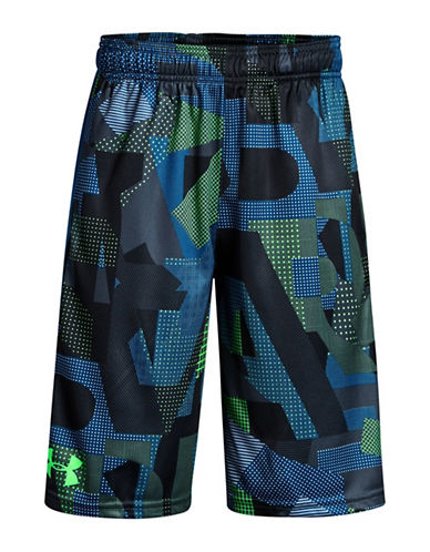 Under Armour BB Printed Stunt Shorts-ARENA GREEN-Large