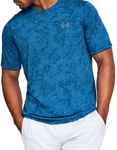 Under Armour Threadborne Printed T-Shirt-BLUE-Small 90090364_BLUE_Small