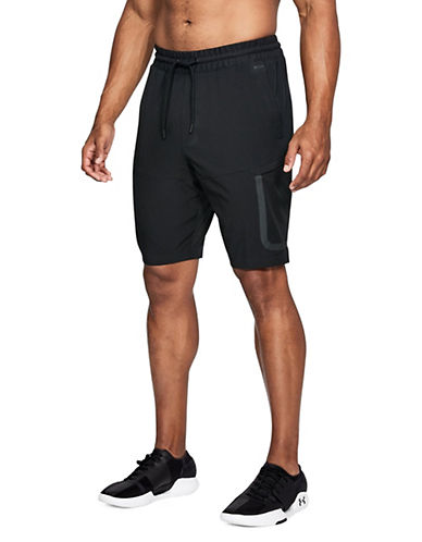 Under Armour Sportstyle Elite Cargo Shorts-BLACK-Medium 90090320_BLACK_Medium