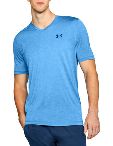 Under Armour Tech V-Neck Short-Sleeve Tee-BLUE-Large