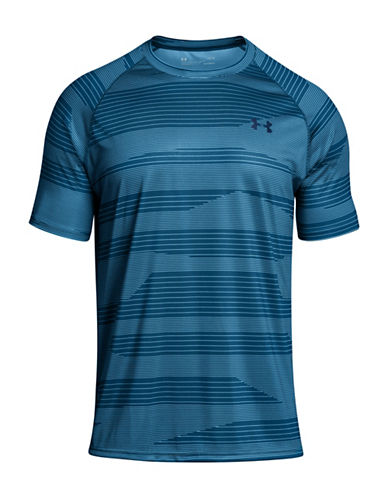 Under Armour Tech Printed T-Shirt-MOROCCAN BLUE-X-Small 89948079_MOROCCAN BLUE_X-Small
